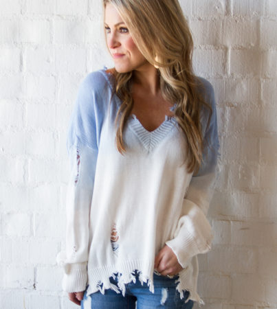 Ombre Sweater Blue 2