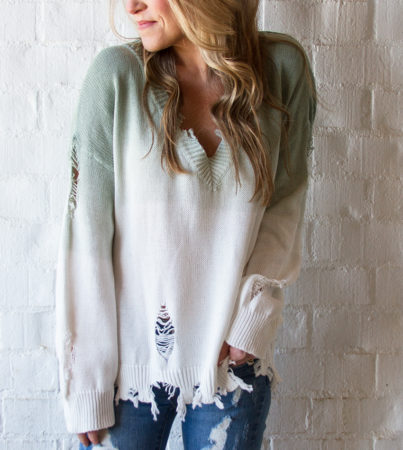 OmbreSweater Green 3