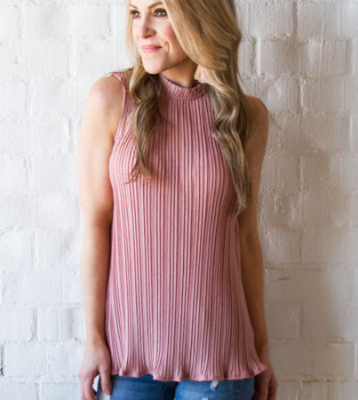 Pleated Blouse Rose 4