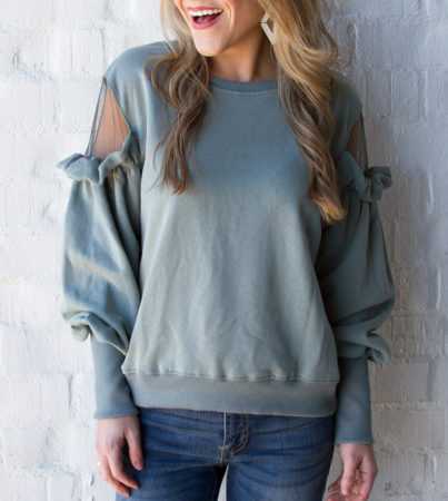 Savvy Sheer Sweatshirt