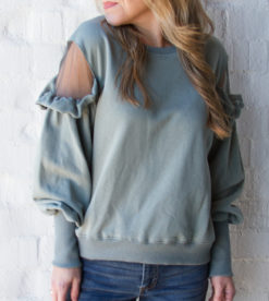 Savvy Sheer Sweatshirt 3