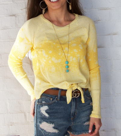 30A Tie Top - Yellow