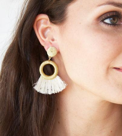 Nyla Fringe Earring Ivory