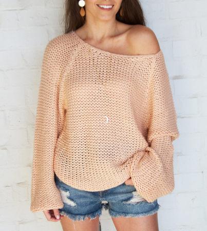 Penelope Sweater - Peach