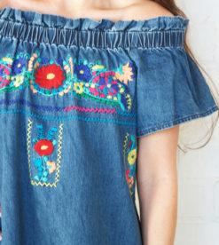 Rosy Denim Dress2