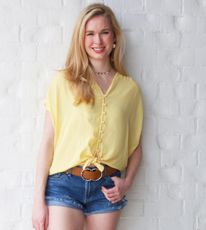 Summer On My Mind Top Yellow