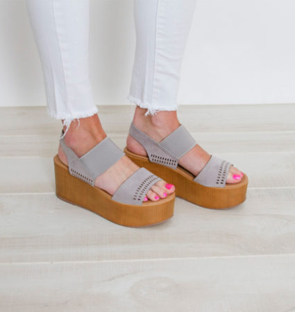 Grey Platform Wedge