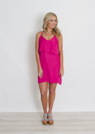 Hot pink Spaghetti Dress