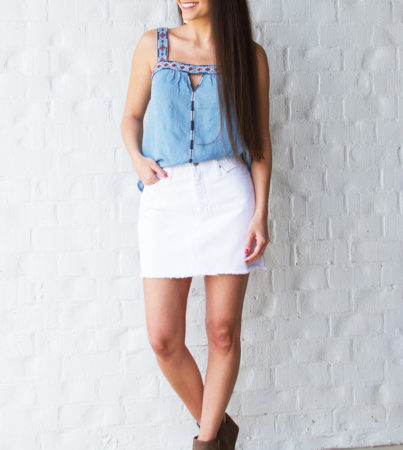 Sway Into White Skirt