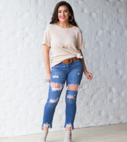 Waffle Cutie Top Taupe