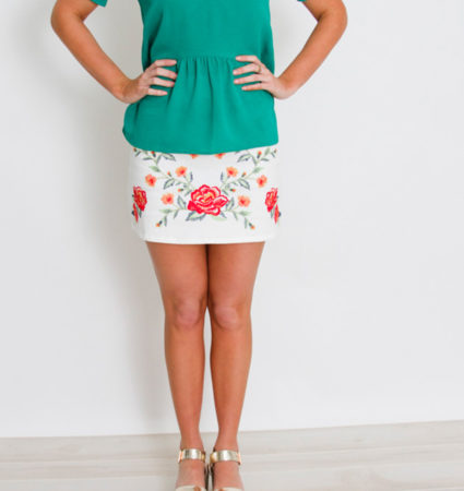 White Embroidery Skirt