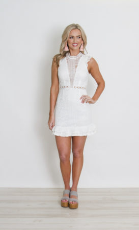 White Lace dress with cap sleeve