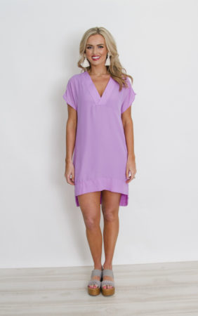 vneck shift dress