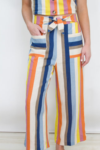 e7b583f0388f Multicolor Stripe Linen 2 Piece Set – Bottom